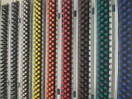wycieraczki aluminiowe różne kolory szczotki